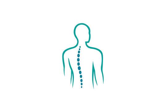 Creative Chiropractic Back Spine Logo Design Vector Symbol Illustration