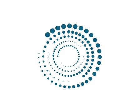 halftone circle dots vector