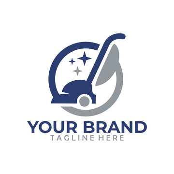 vacuum cleaner logo icon cleaning company