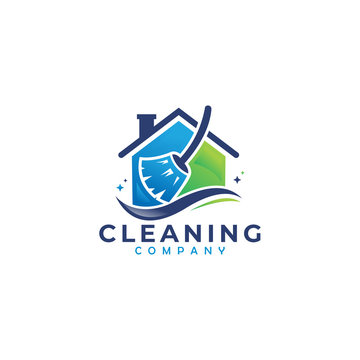 cleaning logo icon company vector