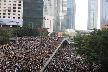 Photo sur Aluminium Hong-Kong protest in hong kong 2019 june 12