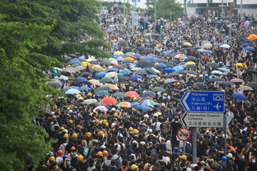 Photo sur Aluminium Hong-Kong protest in hong kong on june 12 2019