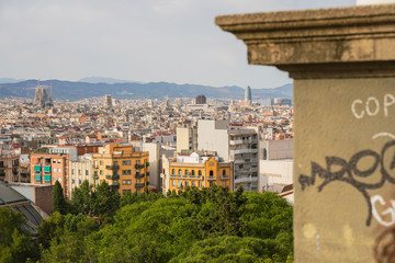 Barcelona. View of the city with buildings. Catalonia. Spain