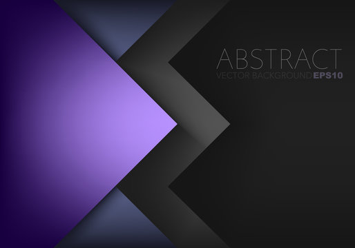 Purple triangle with black space vector background