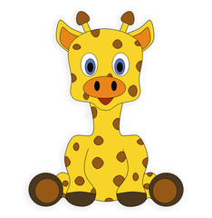 giraffe animal cute drawing cartoon