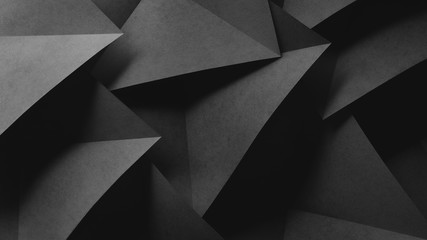 Geometric shapes of paper, composition abstract