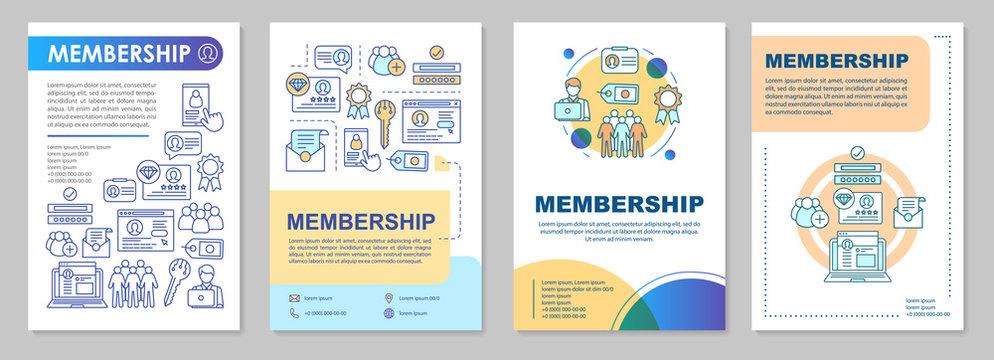 Membership brochure template layout