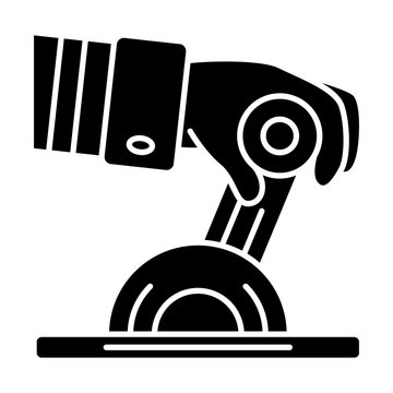 Pilot engine lever glyph icon