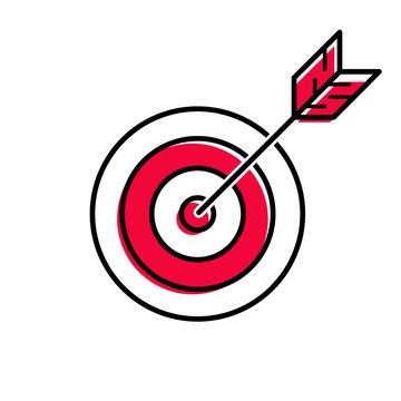 Target, arrow in bull's eye