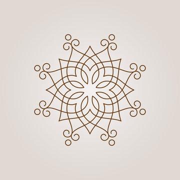 Vector round line exotic mandala