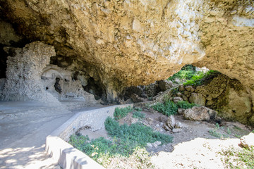 Die römische Grotte Grotta di Maternia in Capri, Italien