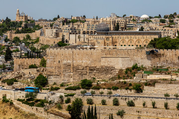 Canvas Prints Athens East wall of Temple Mount