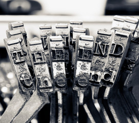 the end  with old typriter keys