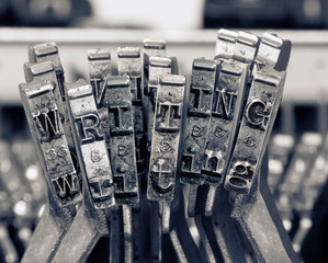 the word  writing with old typwriter keys