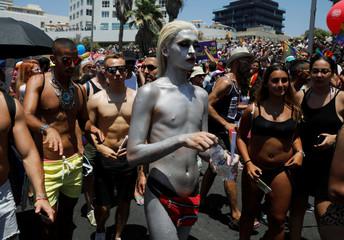 Annual gay pride parade in Tel Aviv