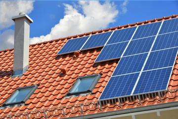 Solaranlage auf einem Wohngebäude