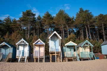 Fototapete - Beach Huts in Norfolk