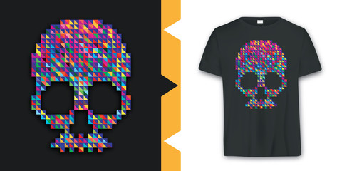 Graphic Skull T-shirt Design vector