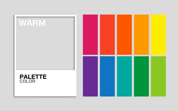 Palette color Warm vector
