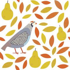 partridge in a pear tree pattern