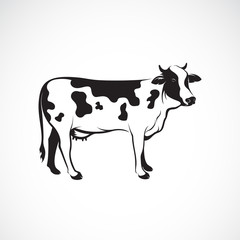 Vector of cow on white background, Farm animal, Vector illustration. Cow logo or icon. Easy editable layered vector illustration.