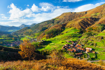 Carmona village, Cabuerniga valley, Saja-Besaya Natural Park, Cantabria, Spain, Europe