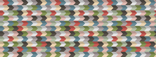 Abstract geometric  background, 3D effect, retro colors