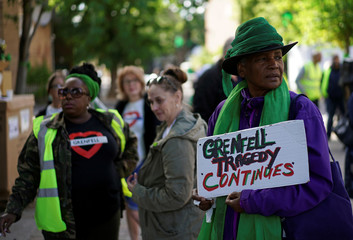 Second anniversary of the Grenfell Tower fire in London