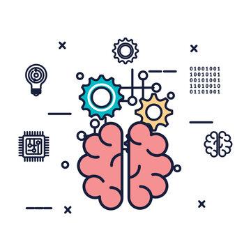brain storming icon vector illustrator