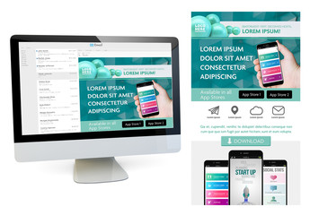 Teal and White Mobile Newsletter