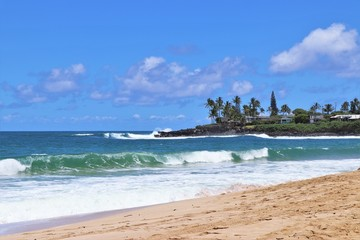 Beautiful beach are on the North Shore in Hawaii