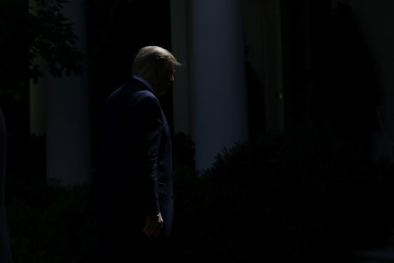 U.S. President Trump hosts event about health coverage options for small businesses and workers during an event in the Rose Garden of the White House in Washington