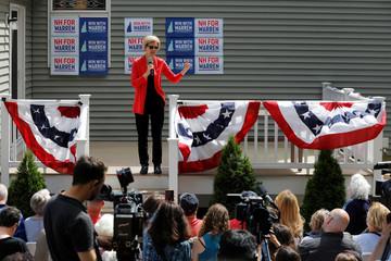 Democratic 2020 U.S. presidential candidate Warren speaks in Windham