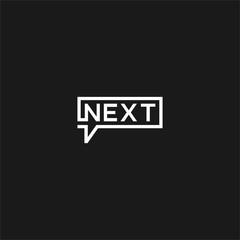 next typography logo illustration vector graphic download