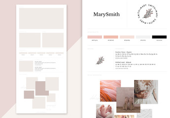 Brand Board Layout with Photo Placeholders