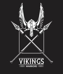 Vikings warriors printed tshirt template