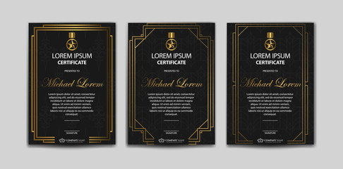 Set Of Luxury Certificate Template