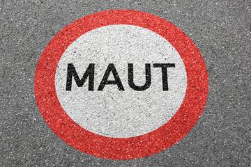 Maut Straße City Mautstraße bezahlen saubere Luft Maut-Straße Autobahn Schild Zone