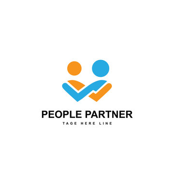 people partner logo template