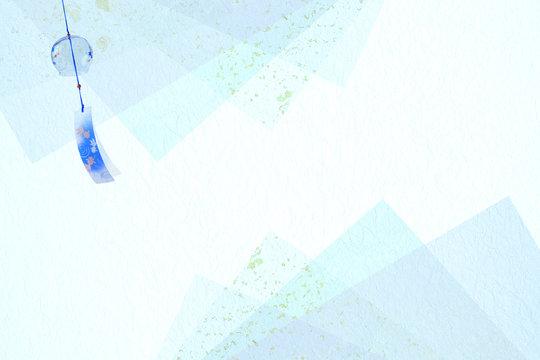 風鈴と透明感のある和紙の背景