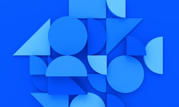 Abstract 3d render, modern background design with geometric shapes