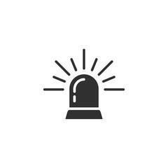 Siren flat icon vector. siren logo design illustration