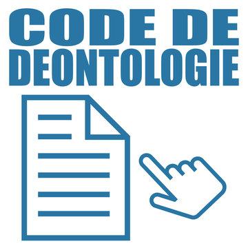 Logo code de déontologie.