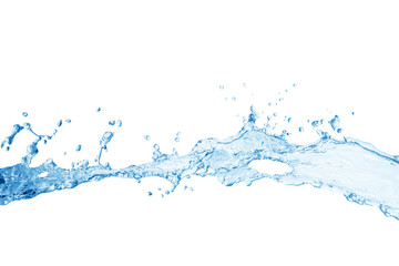 water splash isolated on white background, water splash Wall mural