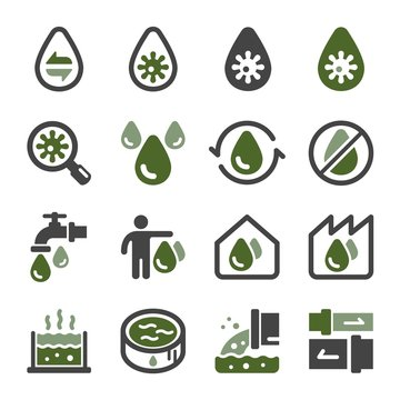waste water and sewage icon set,vector and illustration