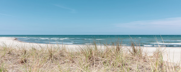 the beach of Boltenhagen in beautiful weather