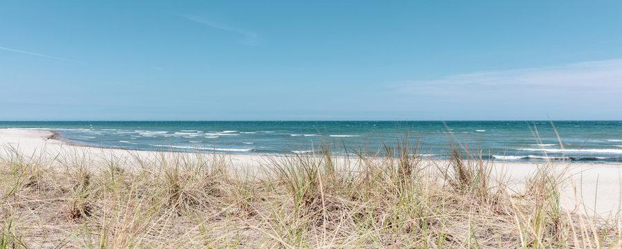 the beach of Boltenhagen in beautiful weather