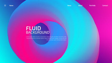 Trendy summer 3D flow shapes gradient background, colorful abstract fluid 3d tubes. Futuristic design wallpaper for banner, poster, cover, flyer, presentation, advertising, landing page Wall mural