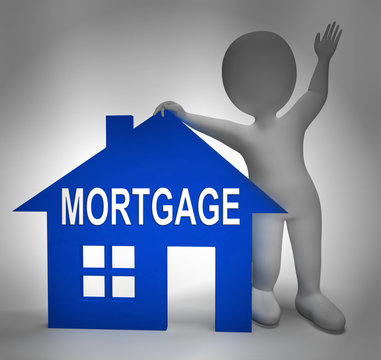 Mortgage Rates Icon For Buy To Let Morgage Or Home Ownership Finance - 3d Illustration