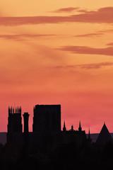minster sunset silhouette